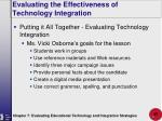 evaluating the effectiveness of technology integration37