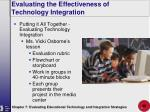 evaluating the effectiveness of technology integration40