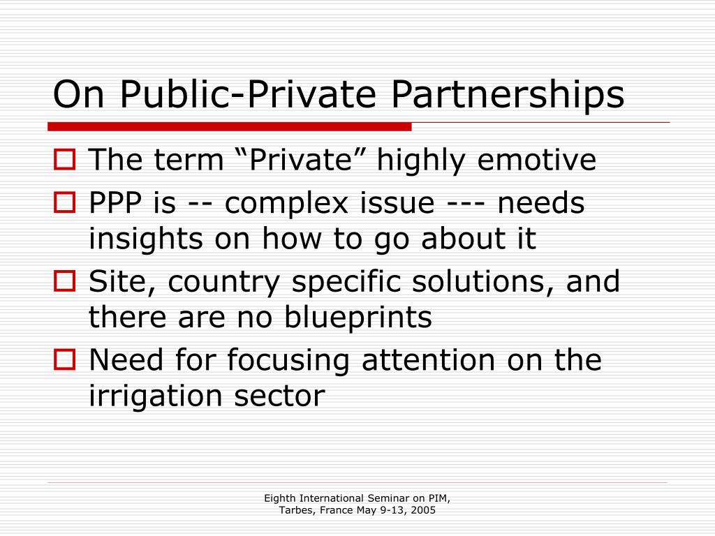 On Public-Private Partnerships