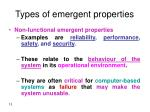 types of emergent properties13