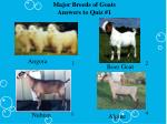 major breeds of goats answers to quiz 1