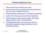 malaysian regulatory process