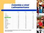colombia a nivel latinoamericano