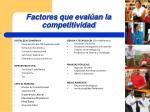 factores que eval an la competitividad