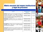 matriz resumen del mapeo institucional y legal de procesos13