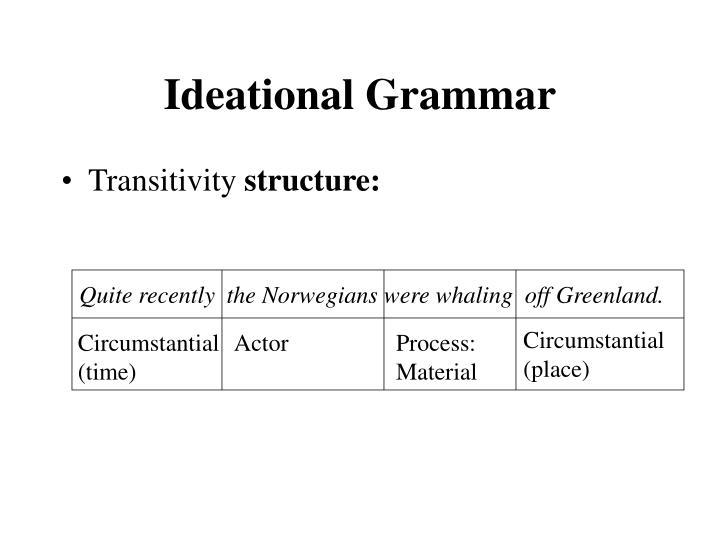 Ideational grammar2