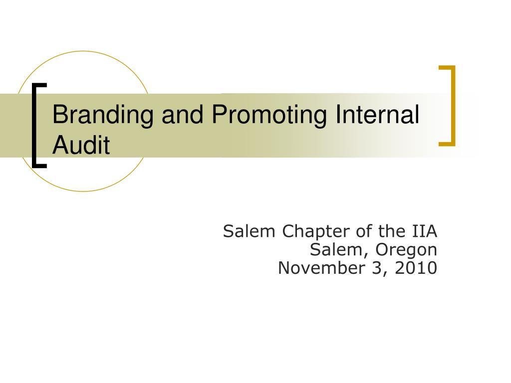 branding and promoting internal audit l.