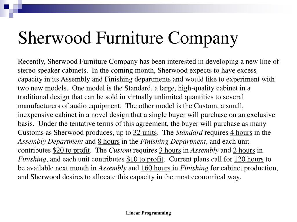 sherwood furniture company l.