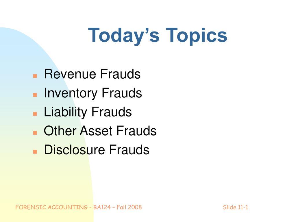 today s topics l.