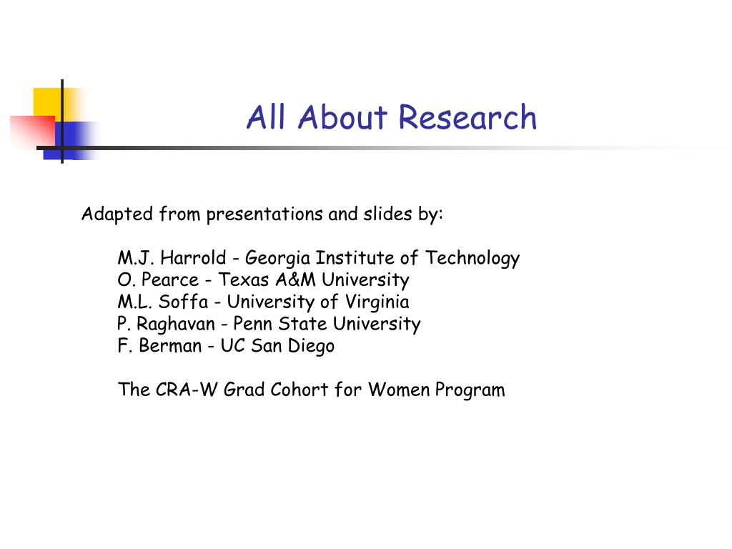 all about research l.