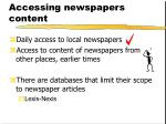 accessing newspapers content