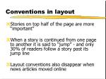 conventions in layout