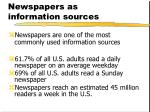newspapers as information sources2