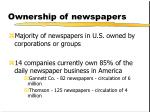 ownership of newspapers