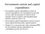 government current and capital expenditures