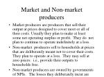 market and non market producers