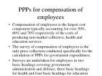 ppps for compensation of employees