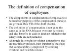 the definition of compensation of employees