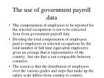 the use of government payroll data