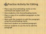 practice activity for editing