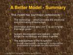 a better model summary