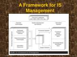a framework for is management