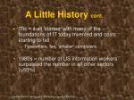 a little history cont