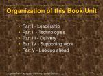 organization of this book unit