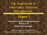 the importance of information systems management