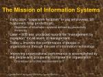 the mission of information systems