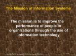 the mission of information systems40