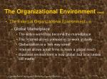 the organizational environment cont16