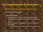 the organizational environment cont17