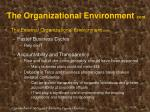 the organizational environment cont18