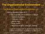 the organizational environment cont19