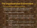 the organizational environment cont20