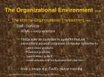 the organizational environment cont21