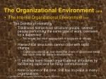 the organizational environment cont24