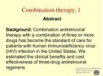 combination therapy 1