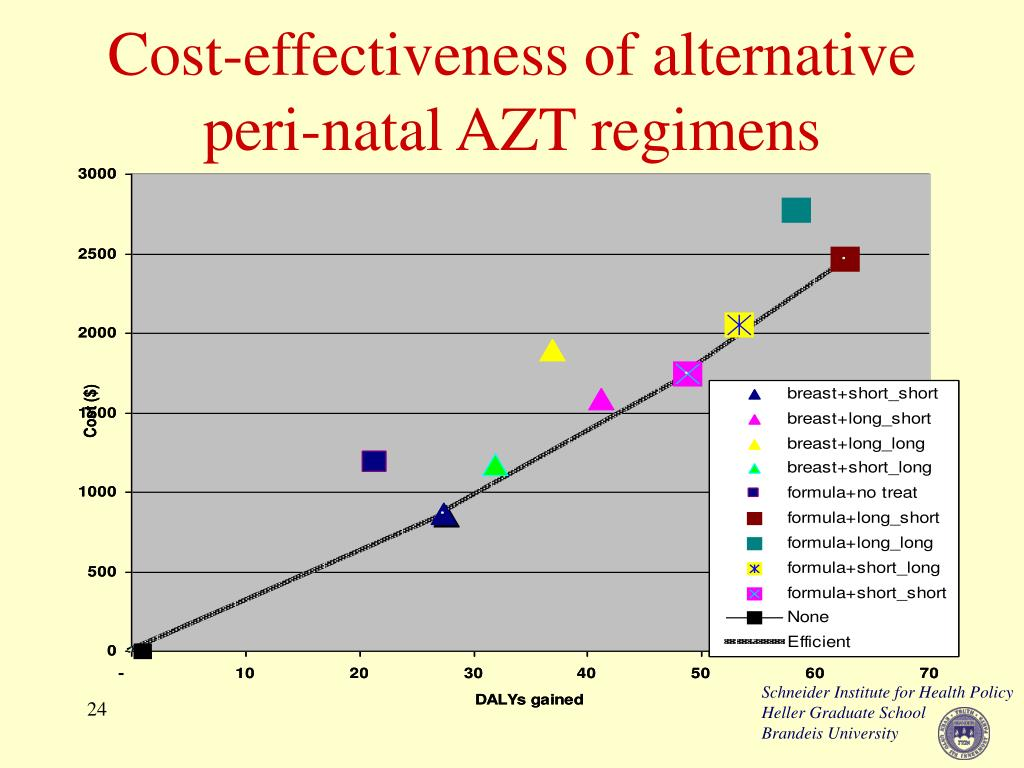 Cost-effectiveness of alternative peri-natal AZT regimens
