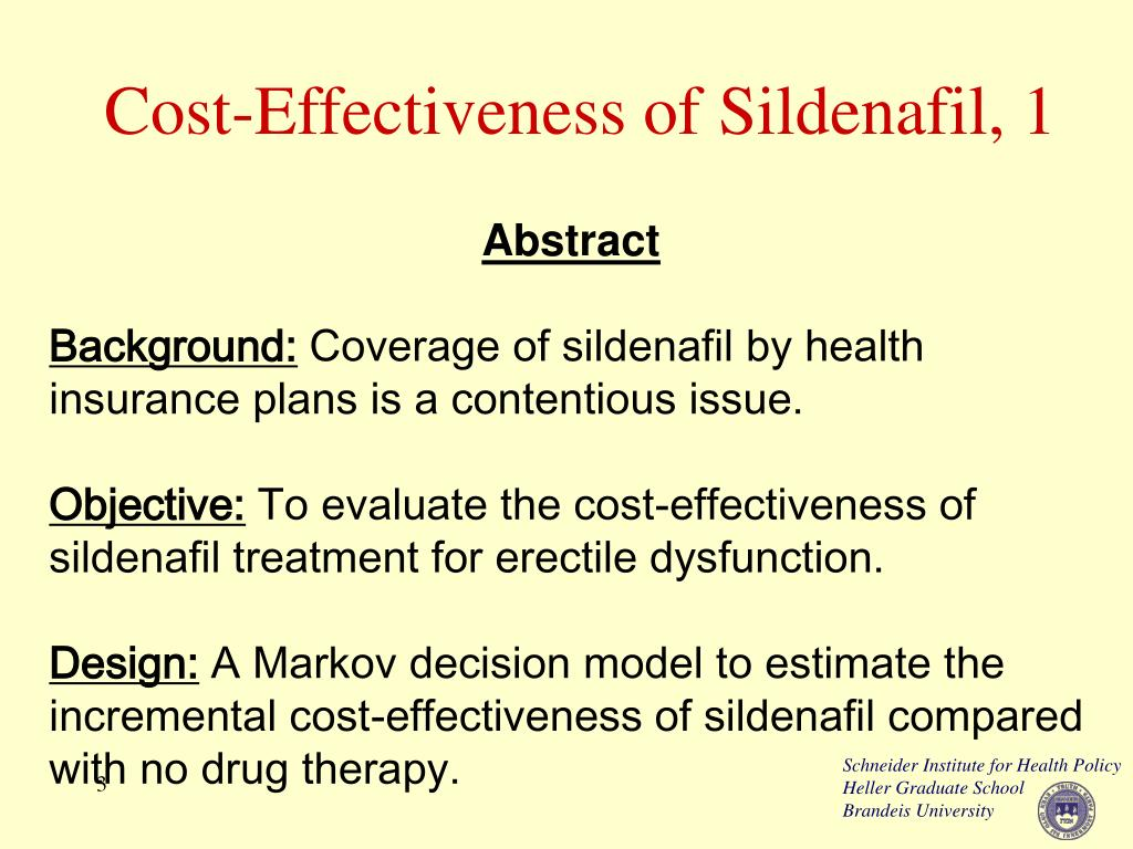 Cost-Effectiveness of Sildenafil, 1
