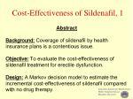 cost effectiveness of sildenafil 1