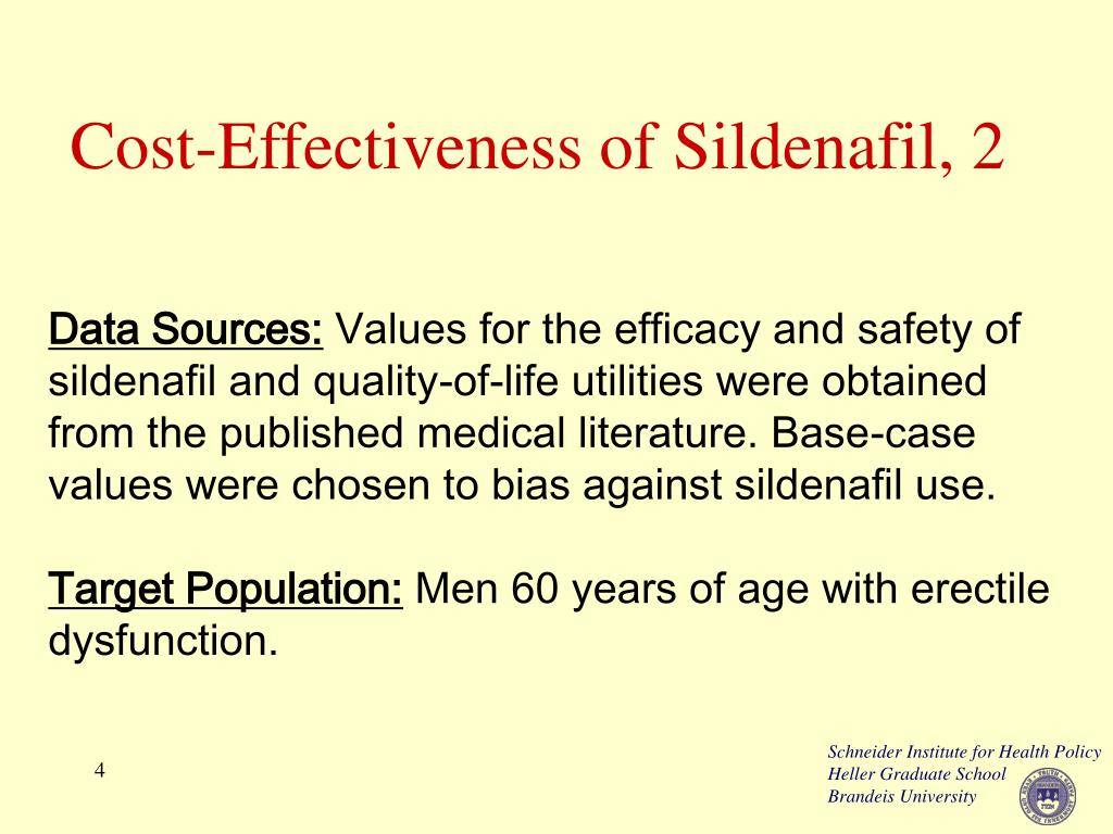 Cost-Effectiveness of Sildenafil, 2