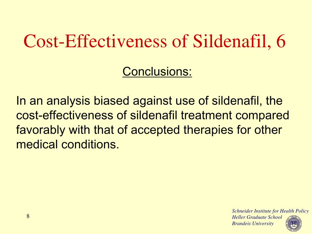 Cost-Effectiveness of Sildenafil, 6