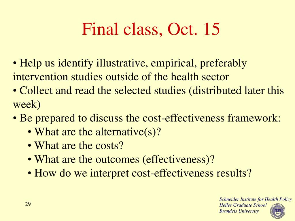 Final class, Oct. 15