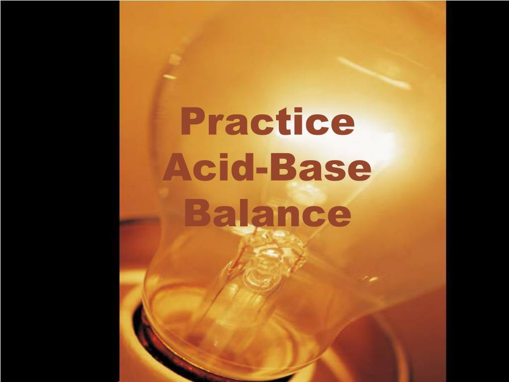 practice acid base balance l.