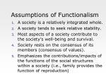 assumptions of functionalism