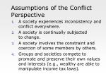 assumptions of the conflict perspective