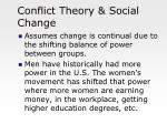 conflict theory social change