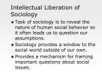 intellectual liberation of sociology